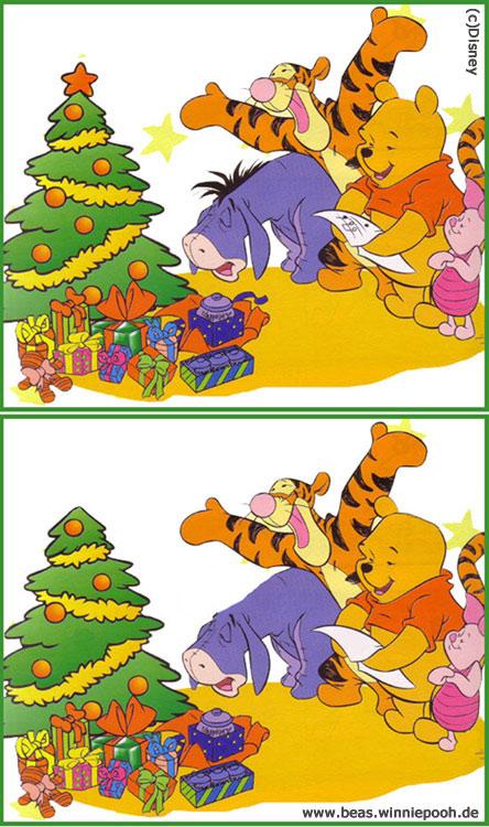 fehlersuchbilder für kinder weihnachten  illustration