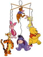 Basteln mit Papier - Beas Winnie Pooh