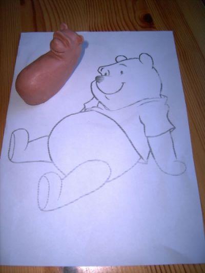 Basteln Mit Ton Beas Winnie Pooh
